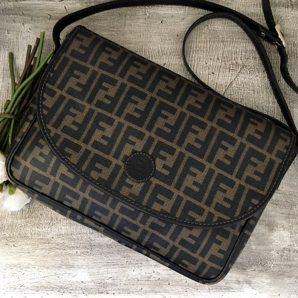 bfeed2e50e Fendi Handbags - 🖤 Vintage Fendi Zucca Crossbody Messenger Bag
